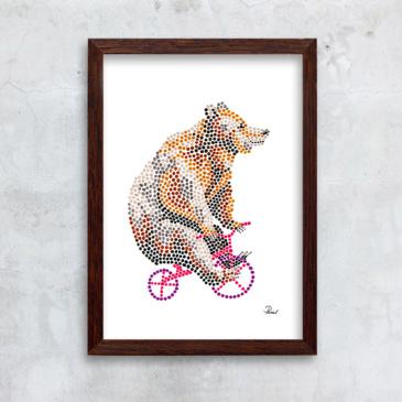 cirkusbjørn - rødlig