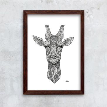 mosaikgiraf - grå