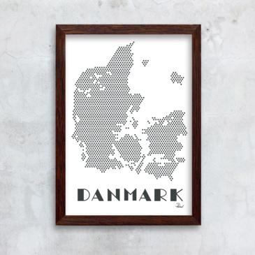 prikker danmark mørkgrå m. hvid bg